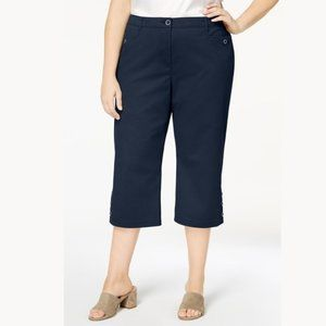 NWT Karen Scott Comfort Capri Pants Intrepid #3501